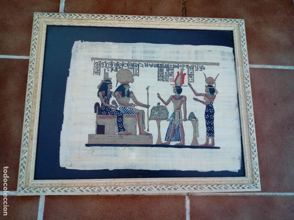 ANTIGUO PAPIRO EGIPCIO CON CERTIFICADO SIGLO XX (Arte - Étnico - África)