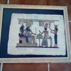 Arte: ANTIGUO PAPIRO EGIPCIO CON CERTIFICADO SIGLO XX. Lote 110371619
