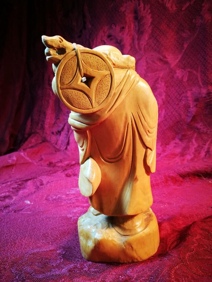 Arte: TALLA ORIENTAL EN MADERA BOJ buxussempervirens- BUDA DE LA SUERTE -GRAN CALIDAD ARTISTICA --VER - Foto 24 - 110401547
