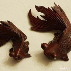 Kunst - Tallas orientales en madera de 2 peces - 110498683