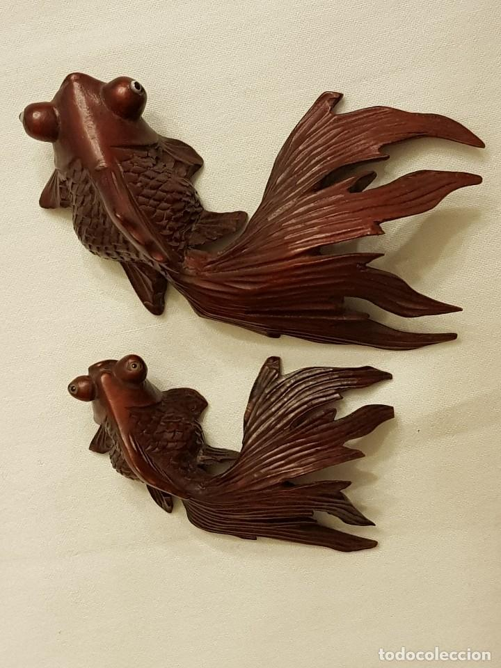 Arte: Tallas orientales en madera de 2 peces - Foto 4 - 110498683