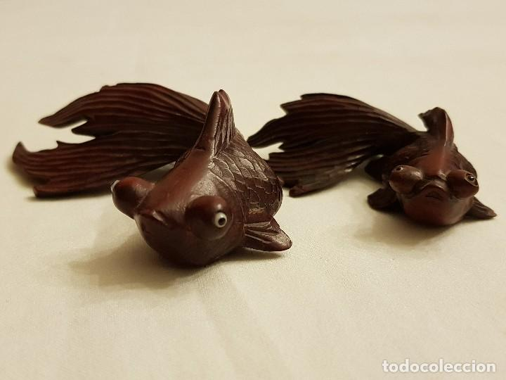 Arte: Tallas orientales en madera de 2 peces - Foto 5 - 110498683