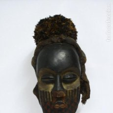 Arte: MASCARA AFRICANA RITUAL TRIBU BUSHOONG KETE EN EL CONGO. MASCARA KUBA ORIGINAL. Lote 111077811