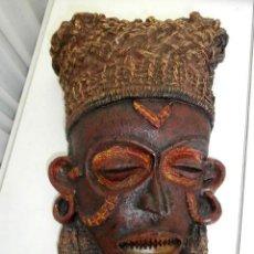 Arte: MASCARA COLGADOR RITUAL AFRICANA . Lote 111709635