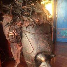 Arte: MÁSCARA AFRICANA CEREMONIAL. PR. S. XX. CON EL SOPORTE INCLUIDO. ÉTNICO. SENUFO (COSTA DE MARFIL).. Lote 111814399
