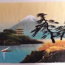 Arte: INTERESANTE PINTURA ORIENTAL SOBRE SEDA. Lote 112175199