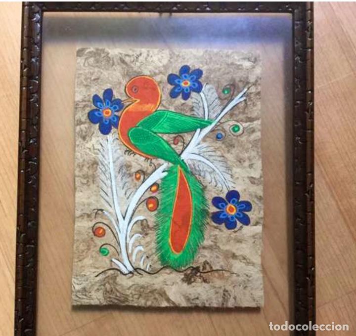 Arte: Tres pinturas figurativa aztecas originales - Foto 2 - 87723848