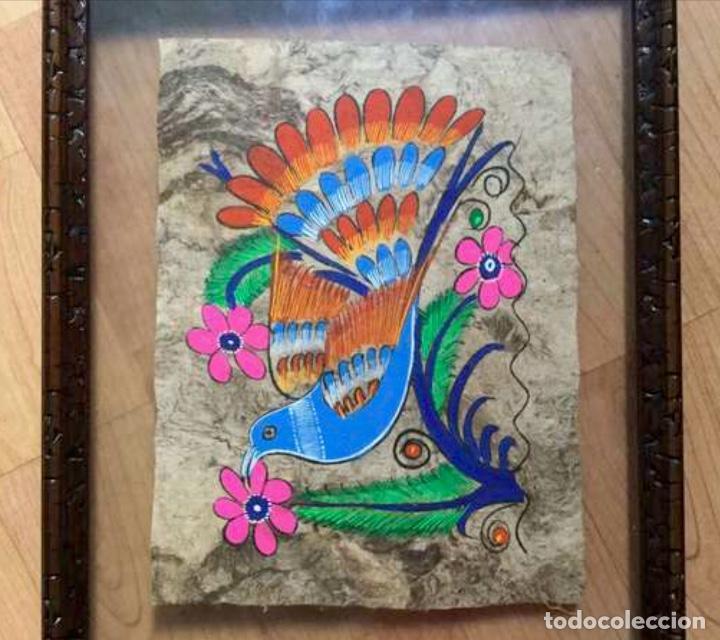 Arte: Tres pinturas figurativa aztecas originales - Foto 3 - 87723848