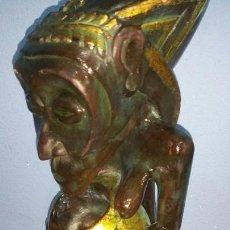 Arte: ICONO DE LA FERTILIDAD AFRICANA EN MADERA MACIZA DE GRAN TAMAÑO. Lote 112254355