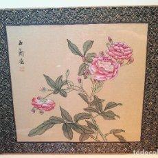 Arte: CUADRO ANTIGUO FIRMADO PINTURA ANTIGUA CHINA O JAPON EN SEDA ORIGINAL- GRAN CALIDAD !!! VER FOTOS. Lote 112721915