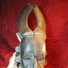 Arte: ANTIGUA MASCARA RITUAL AFRICANA ORIGINAL --GRANDE. Lote 112812819