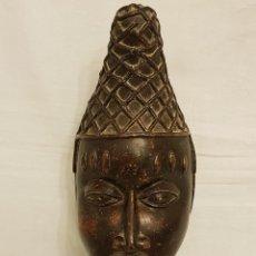 Arte: BRONCE, CABEZA DE LA REINA IOBA (REINA MADRE) - MADRE DEL REY OBA- BRONCE- BENIN- IFE- NIGERIA. Lote 112828751