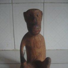 Arte: ANTIGUA TALLA AFRICANA. BONOBO, O CHIMPANCÉ PIGMEO. CONGO.. Lote 112880567