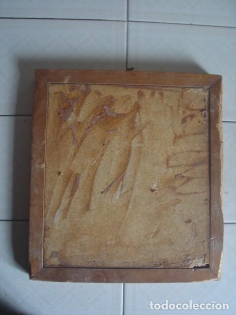 Arte: Bajorrelieve maya sobre lámina de cuero. Kukulkán, dios del viento y la lluvia. - Foto 7 - 112886275