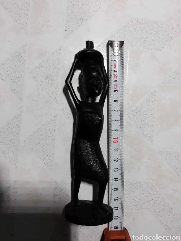 Arte: Talla madera dura mujer africana - Foto 2 - 113432334