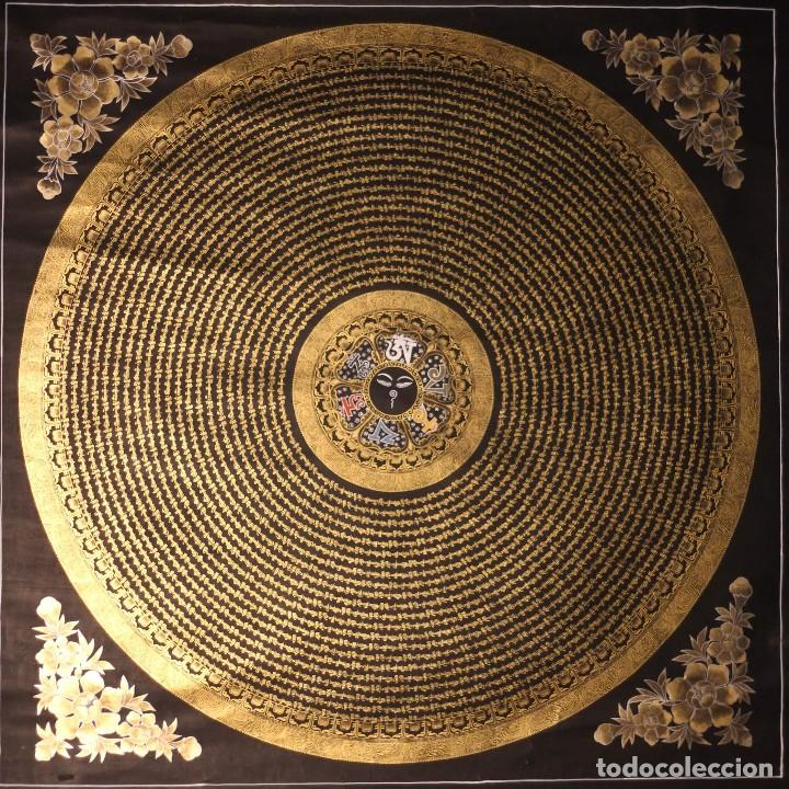 EXCEPCIONAL MANDALA TIBETANA 100X100 CM- KATMANDU- NEPAL (Arte - Étnico - Asia)