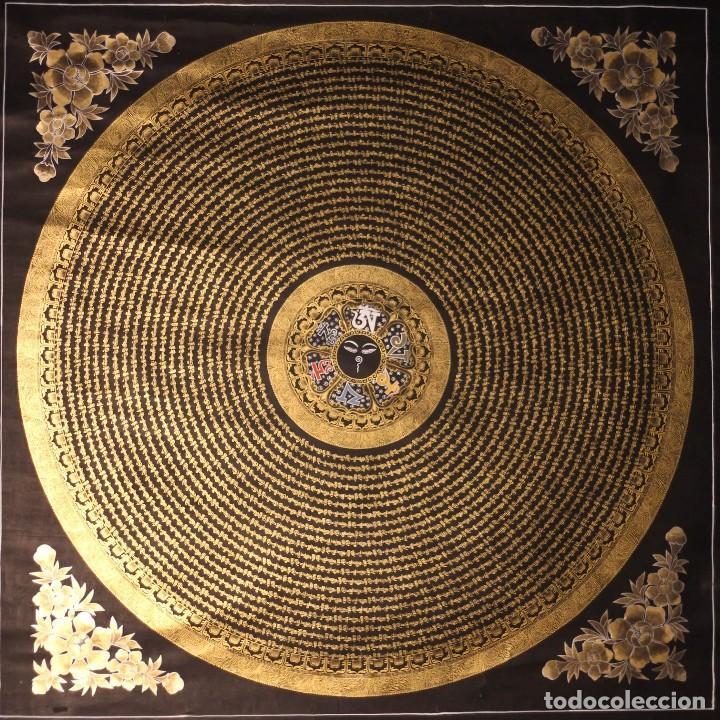 Arte: EXCEPCIONAL MANDALA TIBETANA 100X100 CM- KATMANDU- NEPAL - Foto 2 - 113888643