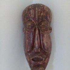 Arte: MASCARA AFRICANA DE MADERA TALLADA. Lote 114477583