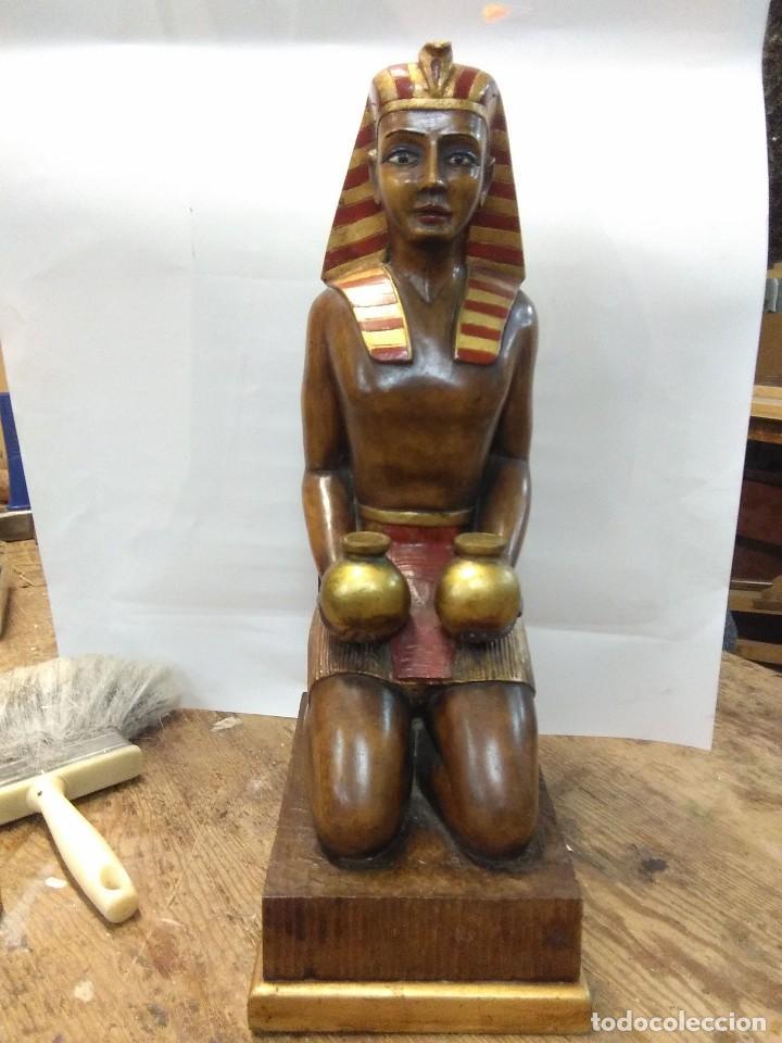 ESCULTURA EGIPCIA DE MADERA (Arte - Étnico - África)
