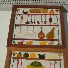 Arte: 2 AZULEJOS PINTADOS A MANO (UNA MARAVILLA). Lote 116627394