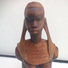 Arte: FIGURA DE MUJER, ESCULTURA ÉTNICA AFRICANA EN MADERA TALLADA. ARTE AFRICA. Lote 116669179