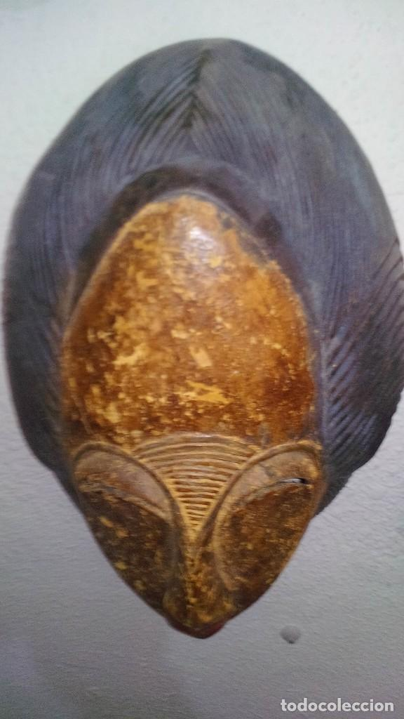 Arte: mascara madera policromada aprox cm 32 largo, 21 ancho, 14,5 profundo peso 1010 gramos-13 fotos - Foto 5 - 116713911