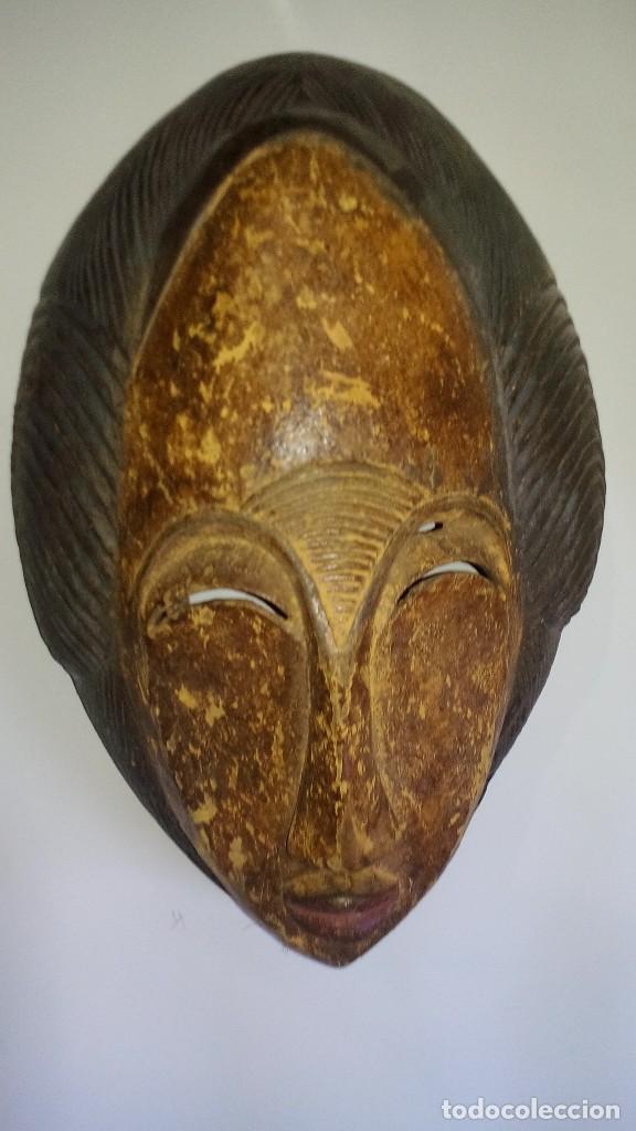 Arte: mascara madera policromada aprox cm 32 largo, 21 ancho, 14,5 profundo peso 1010 gramos-13 fotos - Foto 7 - 116713911