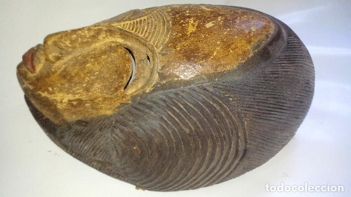Arte: mascara madera policromada aprox cm 32 largo, 21 ancho, 14,5 profundo peso 1010 gramos-13 fotos - Foto 9 - 116713911