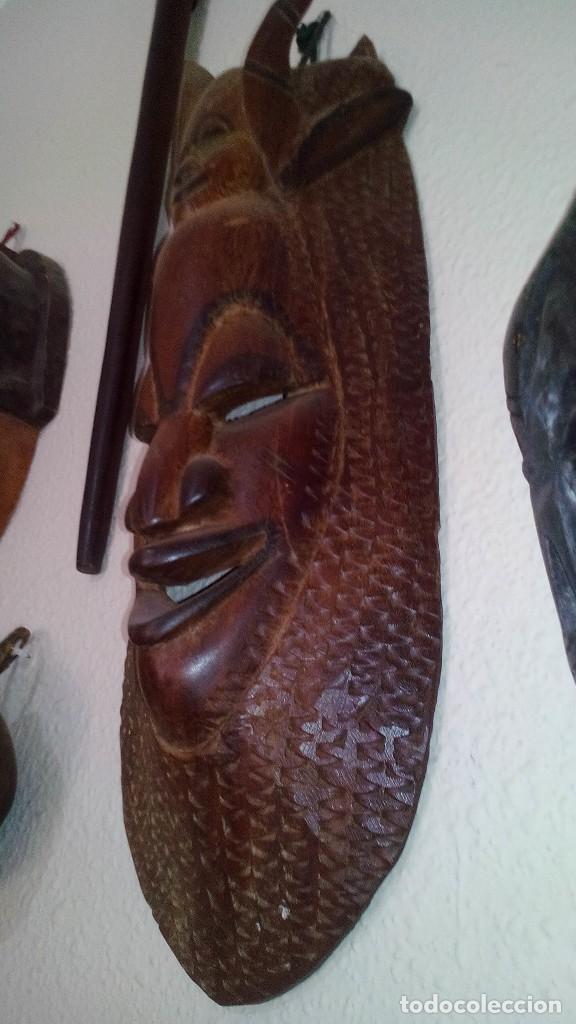 Arte: mascara madera aprox cm 53 largo, 18 ancho, 10 profundo peso 1801 gramos-18 fotos - Foto 2 - 116714379