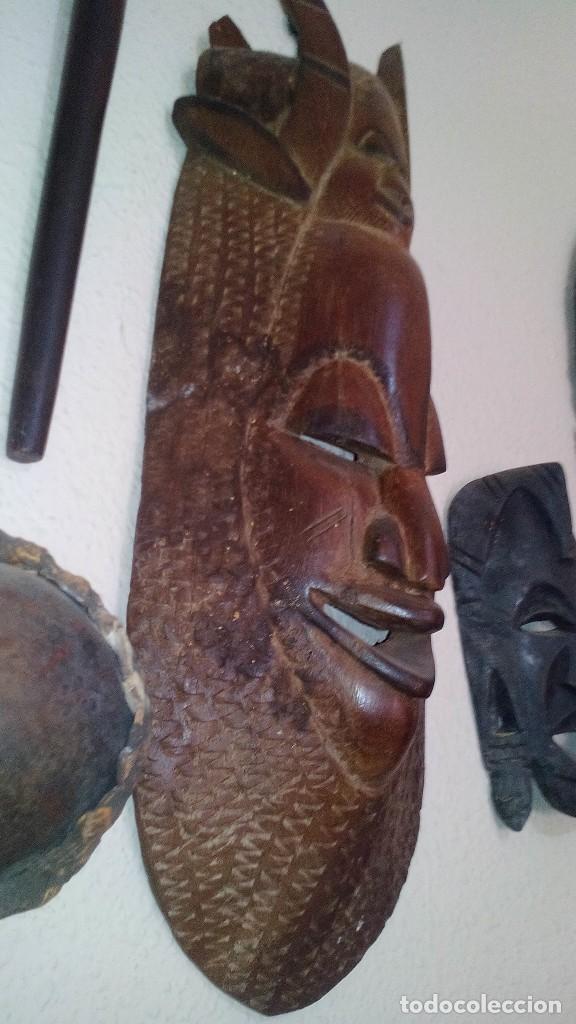 Arte: mascara madera aprox cm 53 largo, 18 ancho, 10 profundo peso 1801 gramos-18 fotos - Foto 3 - 116714379