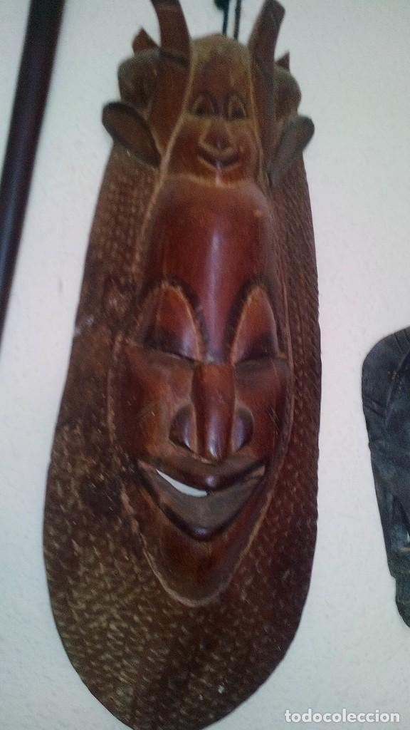 Arte: mascara madera aprox cm 53 largo, 18 ancho, 10 profundo peso 1801 gramos-18 fotos - Foto 5 - 116714379