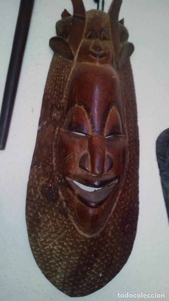 Arte: mascara madera aprox cm 53 largo, 18 ancho, 10 profundo peso 1801 gramos-18 fotos - Foto 6 - 116714379