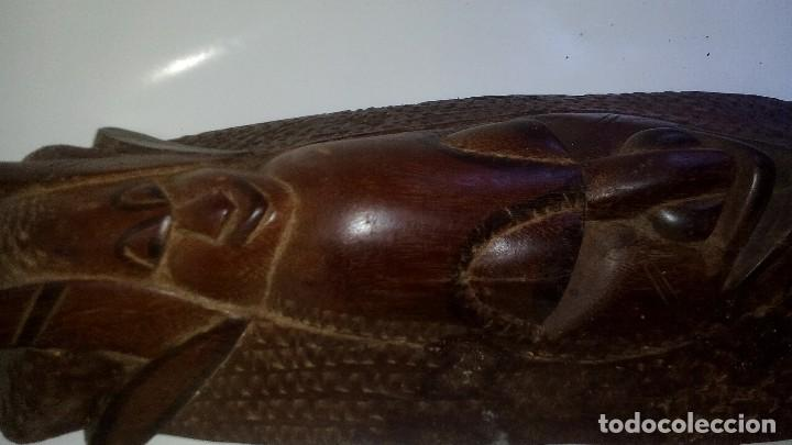 Arte: mascara madera aprox cm 53 largo, 18 ancho, 10 profundo peso 1801 gramos-18 fotos - Foto 13 - 116714379