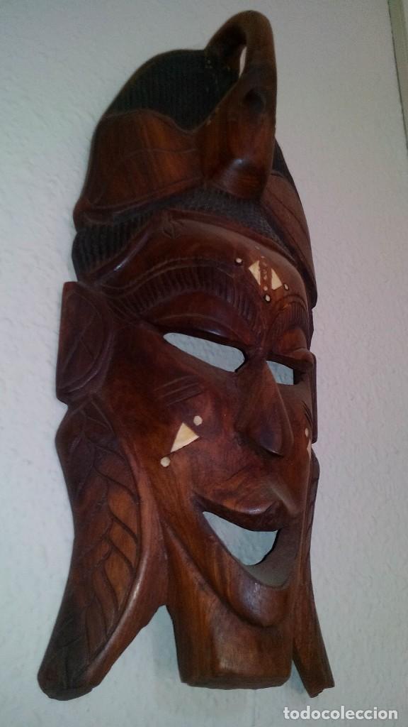 Arte: mascara madera aprox cm 44 largo, 17 ancho, 7 profundo peso 1257 gramos-14 fotos - Foto 2 - 116715167
