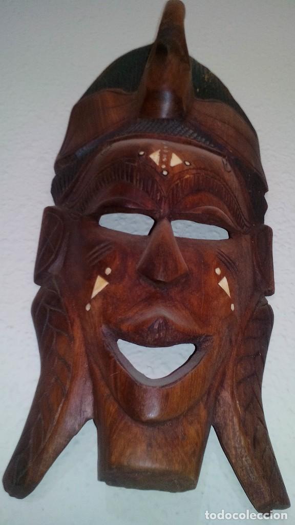 Arte: mascara madera aprox cm 44 largo, 17 ancho, 7 profundo peso 1257 gramos-14 fotos - Foto 3 - 116715167
