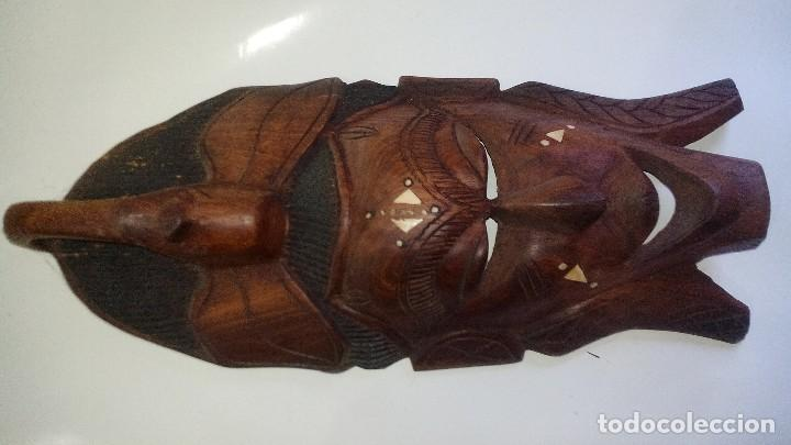 Arte: mascara madera aprox cm 44 largo, 17 ancho, 7 profundo peso 1257 gramos-14 fotos - Foto 5 - 116715167
