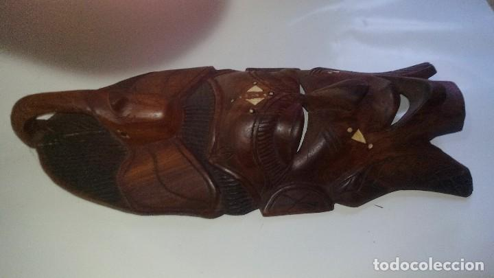 Arte: mascara madera aprox cm 44 largo, 17 ancho, 7 profundo peso 1257 gramos-14 fotos - Foto 6 - 116715167