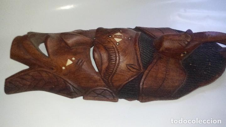 Arte: mascara madera aprox cm 44 largo, 17 ancho, 7 profundo peso 1257 gramos-14 fotos - Foto 8 - 116715167