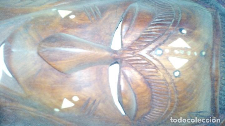 Arte: mascara madera aprox cm 44 largo, 17 ancho, 7 profundo peso 1257 gramos-14 fotos - Foto 9 - 116715167
