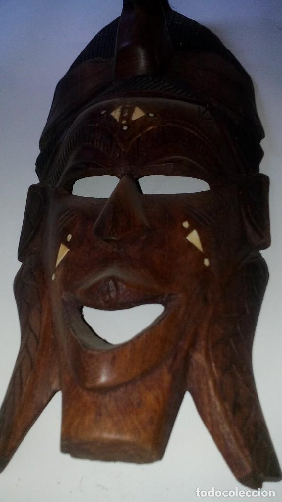 Arte: mascara madera aprox cm 44 largo, 17 ancho, 7 profundo peso 1257 gramos-14 fotos - Foto 10 - 116715167