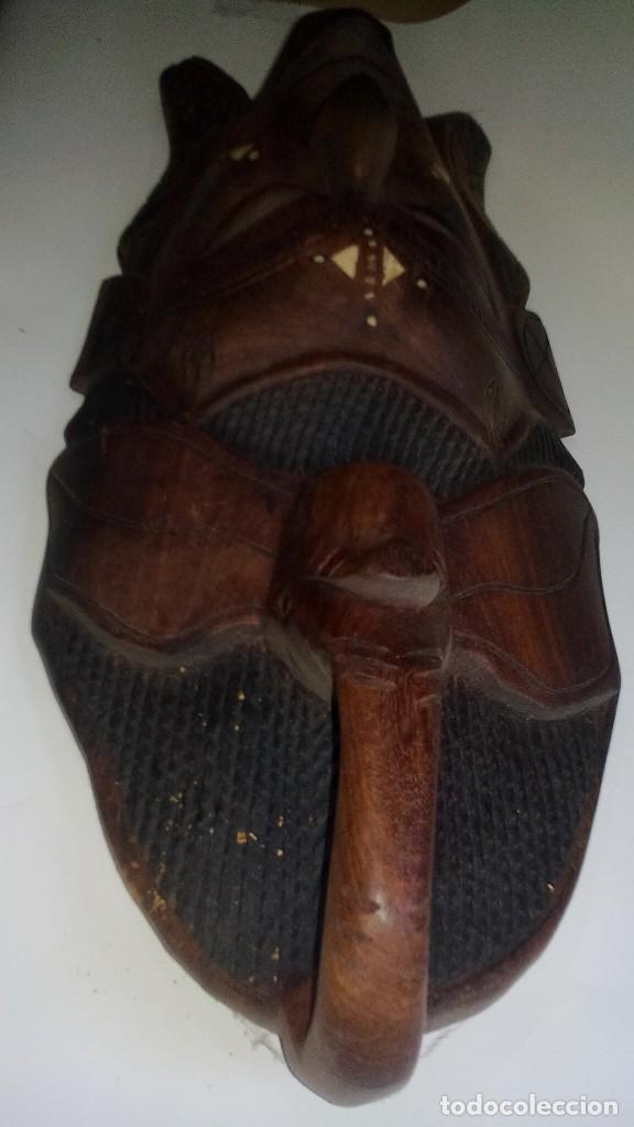 Arte: mascara madera aprox cm 44 largo, 17 ancho, 7 profundo peso 1257 gramos-14 fotos - Foto 11 - 116715167