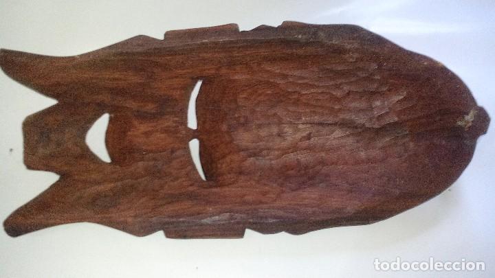 Arte: mascara madera aprox cm 44 largo, 17 ancho, 7 profundo peso 1257 gramos-14 fotos - Foto 12 - 116715167