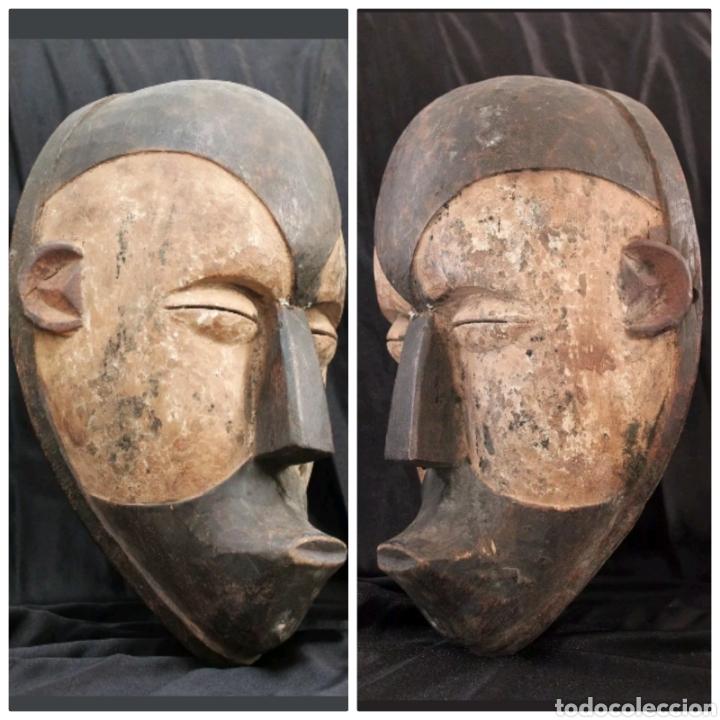 MÁSCARA RITUAL AFRICANA GALOA GABÓN (Arte - Étnico - África)