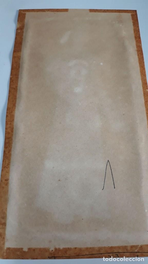 Arte: Dibujo figura masculina tempera o acuarela sobre papel de seda o arroz China, Asia siglo XIX - Foto 5 - 117798815