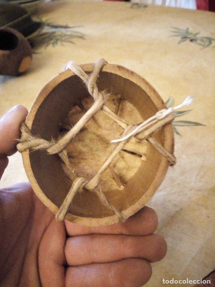 Arte: pequeño tambor africano con dibujo de africano,decoración. - Foto 3 - 117955523