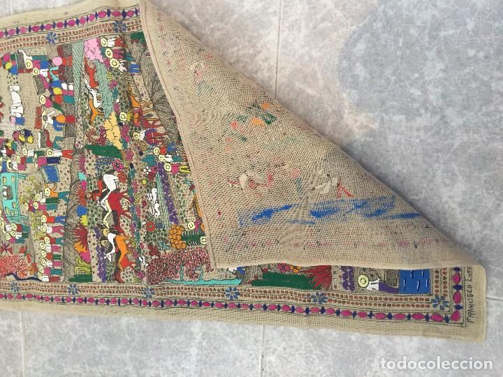 Kunst: tela pintada mano motivos populares campesinos agricultura cosecha mercado guatemala ecuador 86x46cm - Foto 5 - 146470189