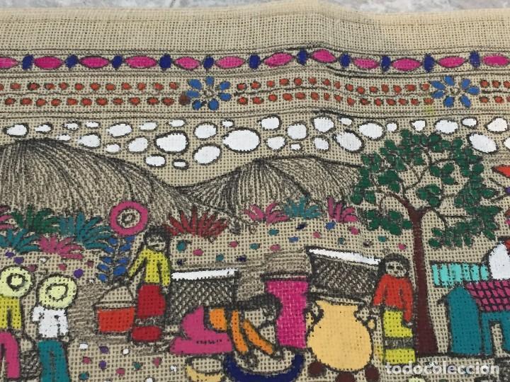 Kunst: tela pintada mano motivos populares campesinos agricultura cosecha mercado guatemala ecuador 86x46cm - Foto 6 - 146470189