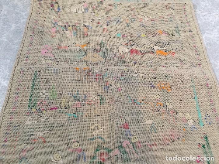 Kunst: tela pintada mano motivos populares campesinos agricultura cosecha mercado guatemala ecuador 86x46cm - Foto 7 - 146470189