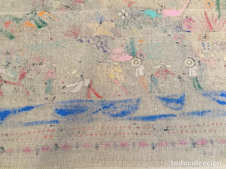 Kunst: tela pintada mano motivos populares campesinos agricultura cosecha mercado guatemala ecuador 86x46cm - Foto 9 - 146470189