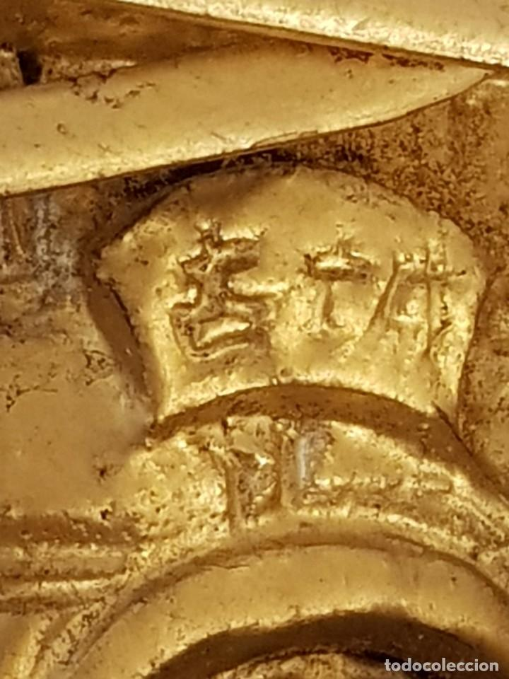 Arte: Panel chino de madera dorada. Siglo XX - Foto 11 - 118108515